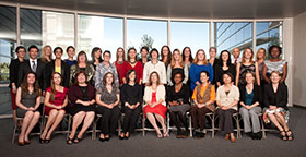 Photo of the incoming School of Nursing students, copyright UC Regents