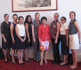 Photo of LEAP participants in Washington, D.C., copyright UC Regents