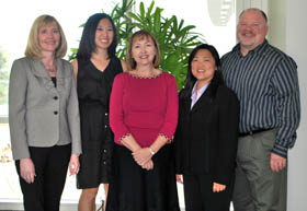 Photo of five of the article's authors, copyright UC Regents