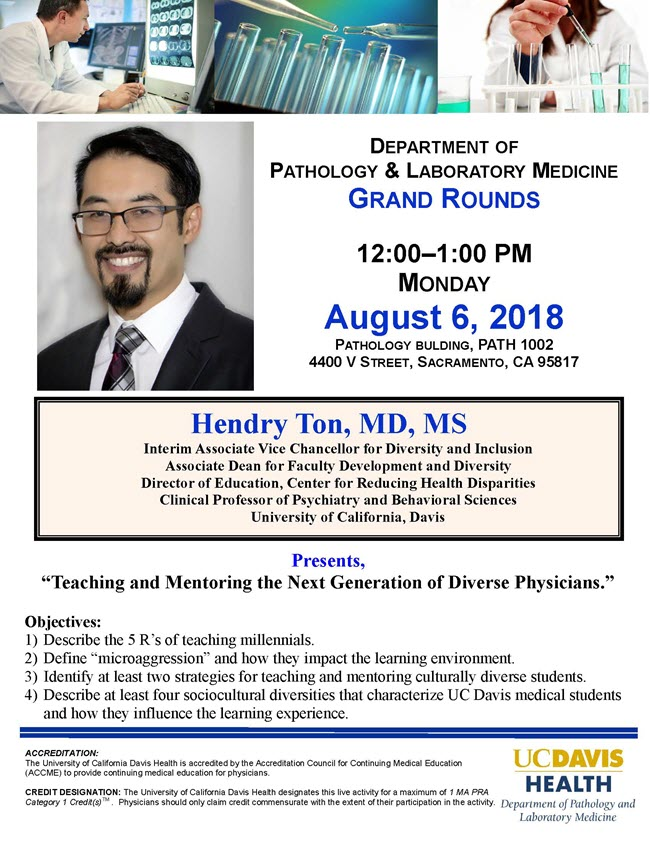 Dr. Hendry Ton grand rounds flyer