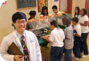 Dr. Pan with kids