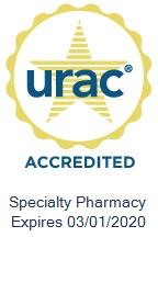Icon for URAC Accreditation of Specialty Pharmacy Expires 3/1/2020