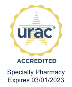 Icon for URAC Accreditation of Specialty Pharmacy Expires 3/1/2023