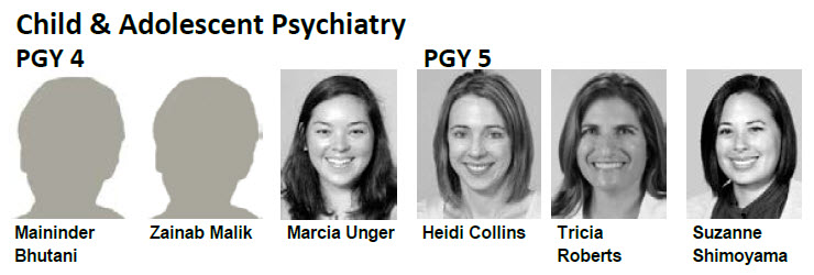 Child and Adolescent Psychiatry Residents 2017-18