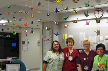 Origami cranes at Radiation Oncology © UC Regents 2010
