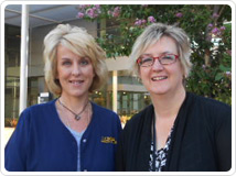 Radiation Oncology nurses, Kerri Stuart and Terri Wolf