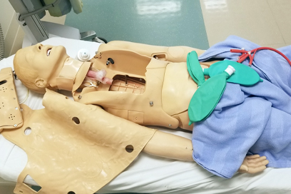 The inside of a simulation mannequin. (C) UC Davis Regents. All rights reserved.