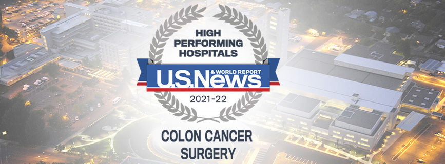 US News 2017-2018 High Performing  Hospital for Colon Cancer Surgery