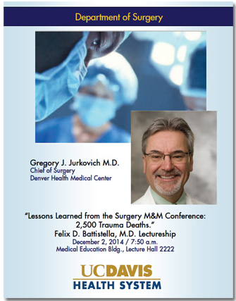 Gregory Jurkovich, M.D. flyer