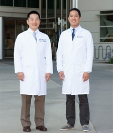 Vascular surgery fellows Michael Hong and Nhanvu Nguyen