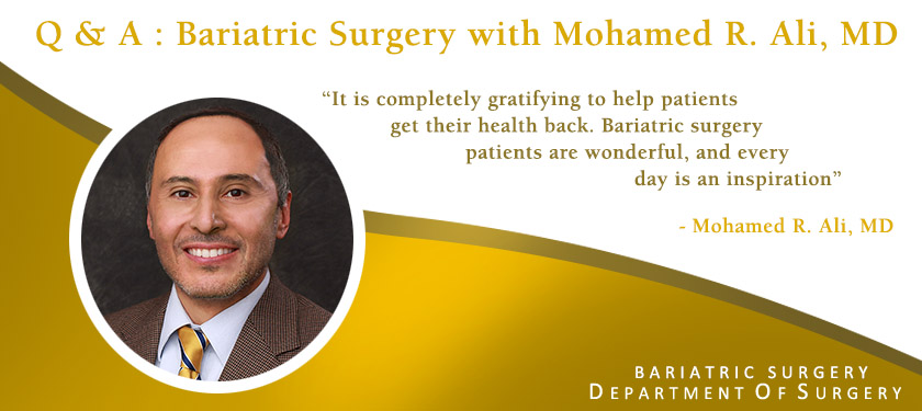 Chief of Bariatric Surgery Mohamed Ali