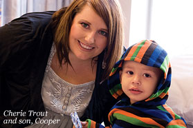 Cherie Trout and son, Cooper