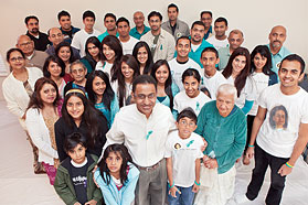 Dozens of Solanki family supporters