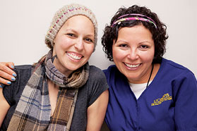 Oncology patient with nurse