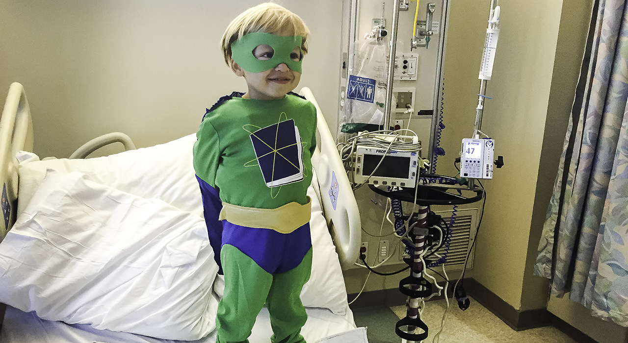 Pediatric cancer patient Fritz Stark