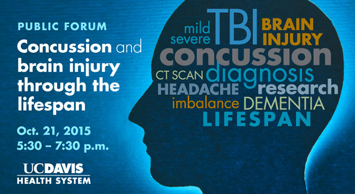 Graphic of concussion and brain injury upcoming forum