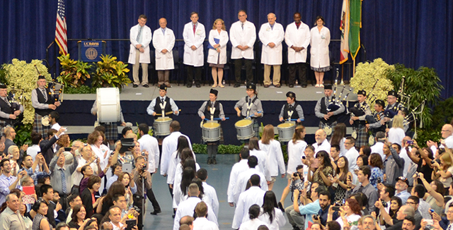 Photograph of Induction Ceremony procession © UC Regents