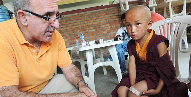 Photograph of Dr. Kuppermann and patient in Nepal © UC Regents