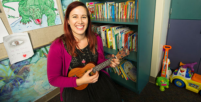 Ukulele and UC Davis Children's Hospital music therapy program helps teen with cystic fibrosis strengthen her coping skills