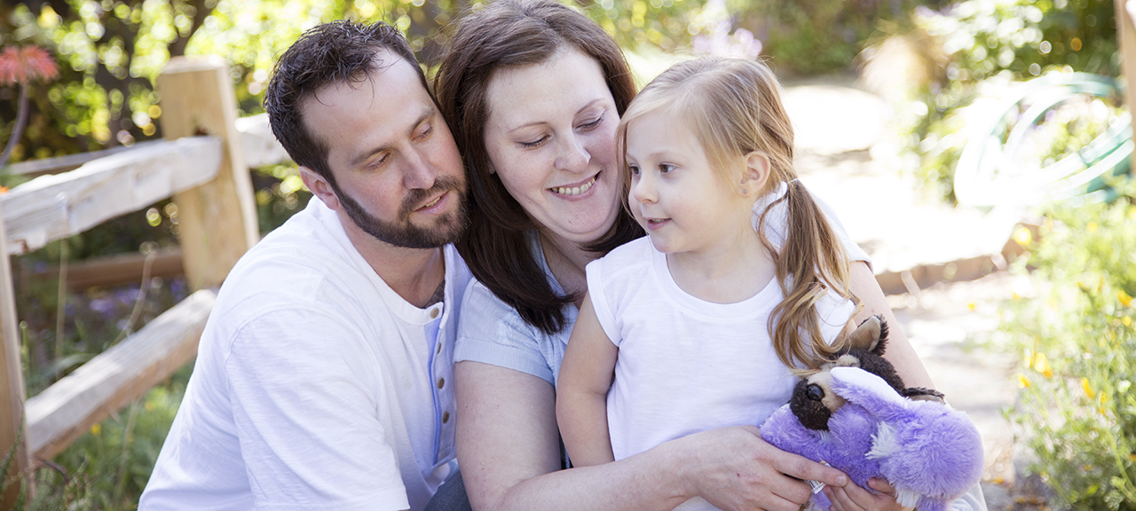 Michelle Lasater, shown with her daughter and husband, had a heart transplant last year on Mother's Day, ending a battle with pregnancy-related heart
