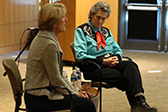 Robin Hansen and Temple Grandin © UC Regents