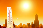 Photo of hot weather in the city