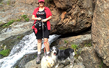 Nature walks with her dogs Lily and Jasmine have made a big difference in Nancy Dziedzic's cancer journey