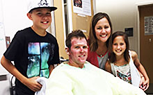 CAL FIRE helitack firefighter Richard Reiff was supported during his burn recovery by his family members