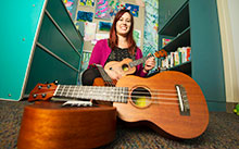 Ukelele and UC Davis Children's Hospital music therapy program helps teen with cystic fibrosis strengthen her coping skills.