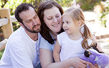 Life-saving heart transplant recipient Michelle Lasater with her family.