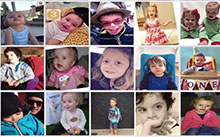 Collage of Jordan as a child ©Photo courtesy of Jordan's Guardian Angels Foundation