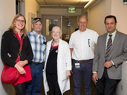 Diana von der Heyde, Tim Mester, Rick Little and his doctors and nurses