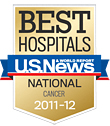 U.S. News Best Hospitals cancer logo © U.S. News
