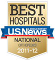 U.S. News Best Hospital orthopedics logo © UC Regents
