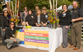 GLEE members at Oct. 10 National Coming Out Day event