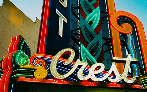 Sign of Sacramento's Crest Theatre